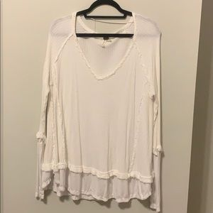 Free People We The Free Slouchy Tunic - White